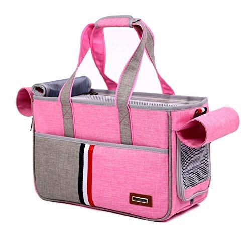 PETHOMEL Hund Träger Geldbörsen, Reisetasche Pet Out Tragetasche Messenger Bag Mode Handtasche,Pink -
