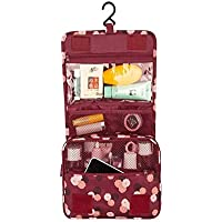 Toiletry Bags impermeabile, Kit da viaggio Organizer porta trucchi-Borsa trousse da viaggio con gancio
