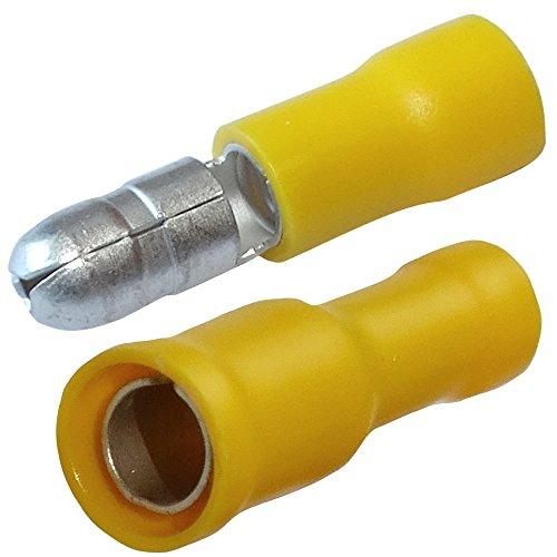 Aerzetix 20x Cosse /électrique cylindriques m/âle femelle bleu /Ø4mm 2mm/² 20A C11656C11657