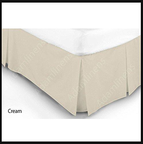 BettVolant Blatt Box Falten Spannbettuch Poly-Baumwolle Schlicht gefärbt Bettdecke Hotel Qualität (Cream, Super King)