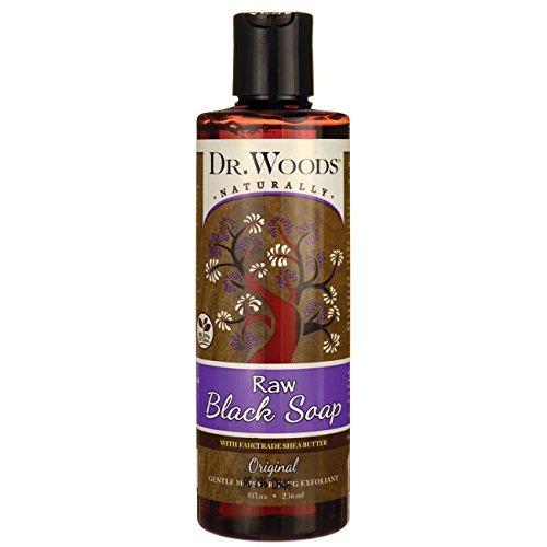 DR. WOODS NATURALS BLACK SOAP W/SHEA BUTTER, 8 OZ by Dr. Woods (Dr. Woods Black Soap)