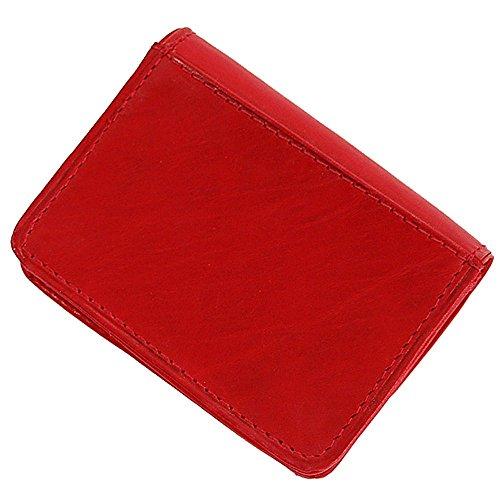 Branco Münzbörse Leder Minibörse Geldbörse Geldbeutel Portemonnaie kleine Börse GoBago (Schwarz) Rot