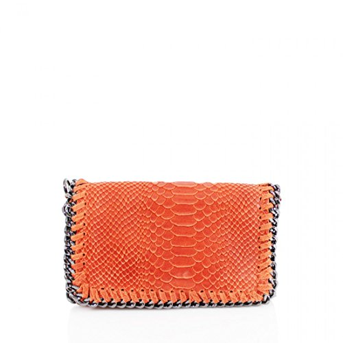 Craze London - Borsetta senza manici unisex bambino donna orange