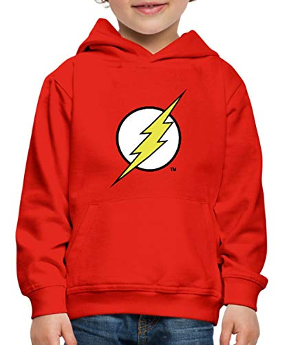 Kostüm Star Labs Flash - Spreadshirt DC Comics Justice League Flash Logo Kinder Premium Hoodie, 134/146 (9-11 Jahre), Rot