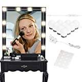 Vanity Mirror Lights, Hollywood Style LED Vanity Mirror Lights 10 Kit für dimmbare Glühlampen für Make-up-Schminktisch mit Touch-Dimmer und Netzteilstecker in Beleuchtungsstreifen