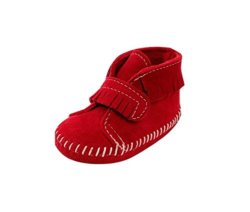 Minnetonka Front Strap Bootie (Infant) (Strap Bootie Front)