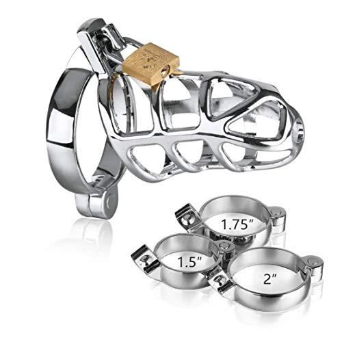 Hebilla para llaves de acero inoxidable para hombres (3 accesorios de tamaño)