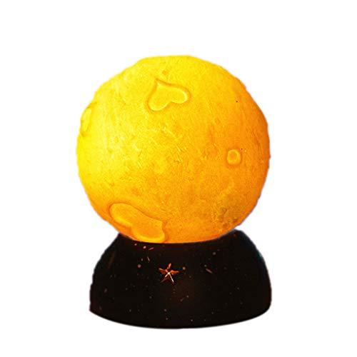 Kineca Neujahr Weihnachtsfest-Dekoration Geschenke Kinder Spielzeug Mini-Mond-Nachttischlampe Startseite Schlafzimmer Bücherregal Nachtlicht 1053-9B Lemon Yellow -