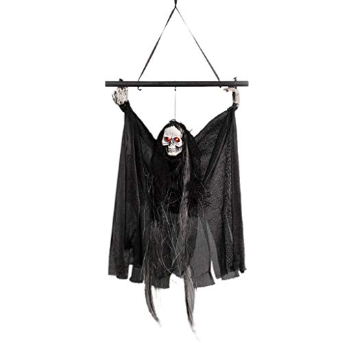 Tuttavie Halloween Voice Control schwarz Pole hängenden Geist Veranstaltungsort Dekoration Set Anhänger