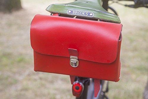 London Craftwork L08 - Sillín de Piel para Bicicleta, Edición Limitada, Color Rojo