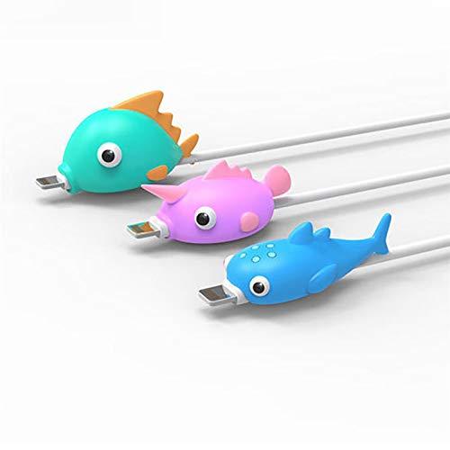 Universal Cartoon Tier Datenkabel Protector Line Rope Schutzhülle Cable Reel Organizer Für iPhone Ladekabel Deckel