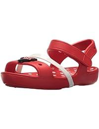 Sandali rossi per bambina Crocs