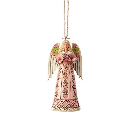 ENESCO Jim Shore Heartwood Creek Engel w/Ornament Herz -