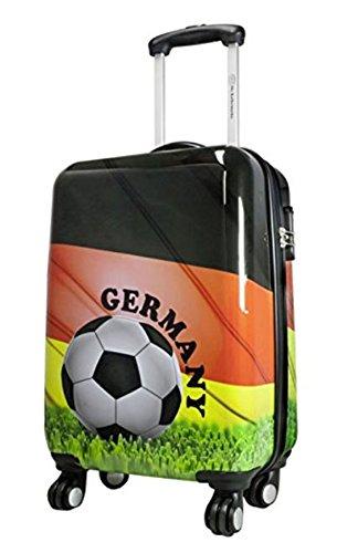 Bowatex Valise à coque rigide Euro et Coupe du monde de football Motifs drapeau de l'Allemagne et ballon de foot Taille L