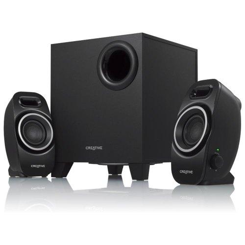 Creative A250 2.1 Lautsprecher-system (Ein/Aus -Schalter, Dual Slot Enclosure) schwarz