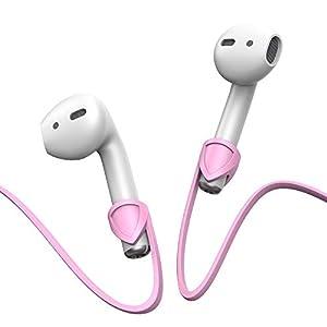 Jamicy® Kompatibel AirPods Case Strong Anti Shock Schutzhülle, Kopfhörer Kabel String Silikon Strap Stecker Kopfhörer Halter für Apple Airpods