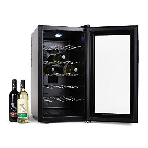 Klarstein Vivo Vino  Weinkühlschrank  Getränkekühlschrank  52 Liter  18 Flaschen  5...