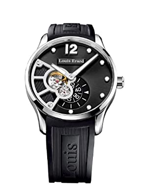 Louis Erard Men's 30208AS12.BDE07 1931 Automatic Fine Black Rubber Watch