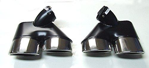 2 x 2 AMG OPTIK SPORT DOPPEL ENDROHR ENDROHREN BLENDEN AUSPUFF AUSPUFFBLENDE EDELSTAHL CHROM NEU