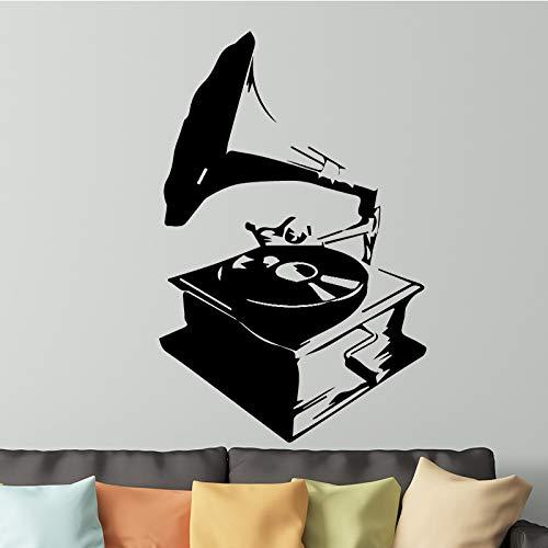 Abstrakte Spieluhr Wandaufkleber Raumdekoration Zubehör Abnehmbare Selbstklebende Vinylwanddekor Jungen Raumwanddekoration-75x45 cm