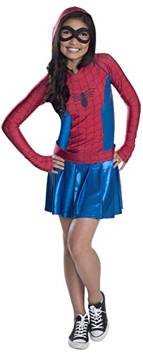 Rubie 's Offizielles Marvel Spider-Girl Kleid Hoodie Dress, Kinder-Kostüm - Medium
