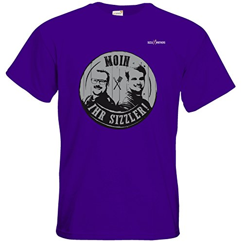 getshirts - SizzleBrothers Merchandise Shop - T-Shirt - SizzleBrothers - Grillen - Sizzler Stamp black Purple