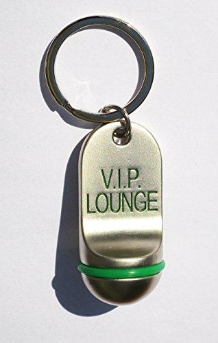 Llavero de Metal Diseño Llave de Hotel 7,5cmx2,5cm ( VIP Lounge) Sala VIP
