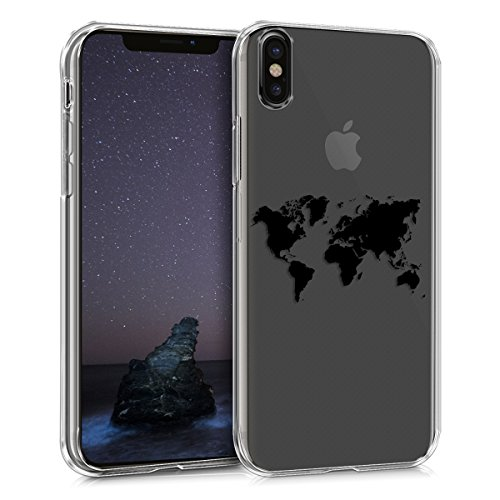 kwmobile Apple iPhone X Hülle - Handyhülle für Apple iPhone X - Handy Case in Schwarz Transparent
