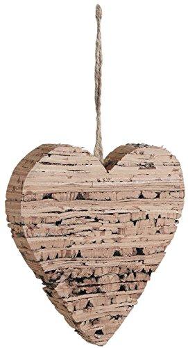 Dekoration Herz zum Aufhängen aus Birkenholz