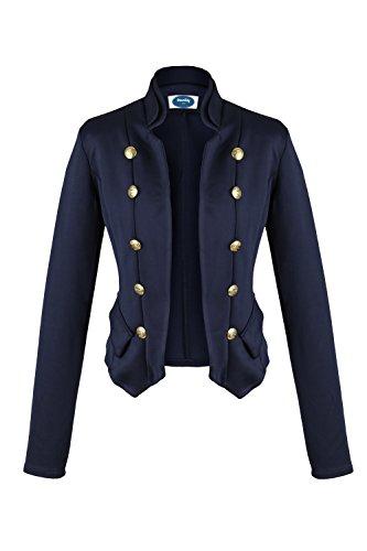 AO 4tuality® Kurzblazer Military Style blau Gr. S Military Style Jacke