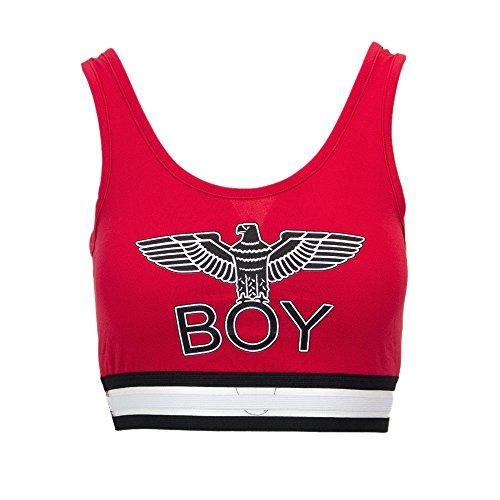 Boy London Top Donna Corto BIELASTICO BL1075 Rosso