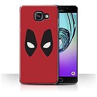 Coque de Stuff4/Coque pour Samsung Galaxy A5 (2016)/Deadpool Masque Inspiré Design/Super Héros Bande Dessinée Collection