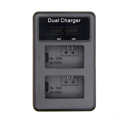 Preisvergleich Produktbild Mouchao NP-FW50 Vertikales Dual-Ladegerät für Digitalkameras Duales Lithium-Ionen-Ladegerät