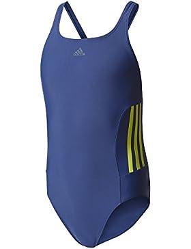adidas Mädchen Infinitex Essence Core 3-Streifen Badeanzug
