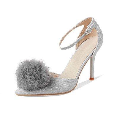 Zormey Frauen Schuhe Glitzer/Stiletto Heel/Schuhe Heels Hochzeit Schuhe/Party & Amp Abend-/Kleid Schwarz/Rot/Silber US4-4.5 / EU34 / UK2-2.5 / CN33