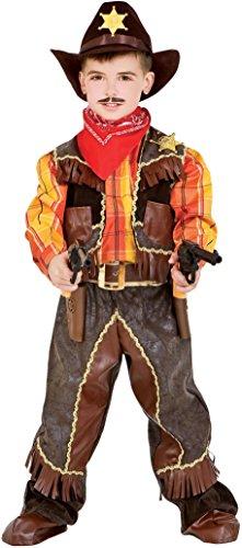 (Chiber - Sheriff Herren Cowboy Weste Kostüm für Kinder (3 Jahre))
