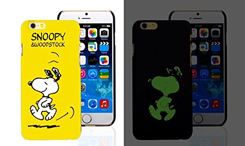 RONNEY'S Luminous PC BLACK Hard Case for Apple Iphone 5/5S/5SE FAIRY SNOOPY
