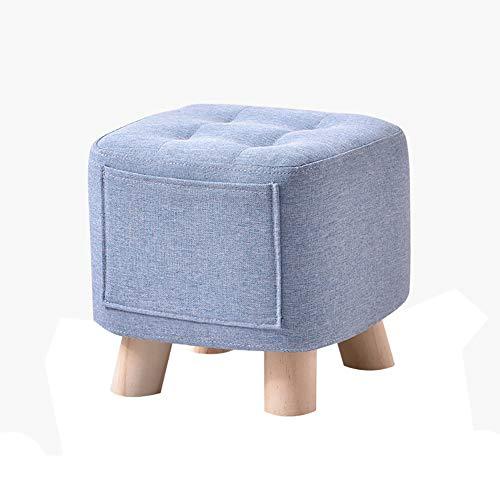 RXW Square Hause Massivholz Hocker, Wohnzimmer Sofa Hocker Massivholz Couchtisch Hocker niedrigen Hocker Kinder Erwachsene kleine Bank-A-XL - Runde Holz-finish Stuhl