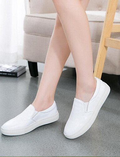 ZQ Scarpe Donna - Mocassini - Tempo libero / Casual - Comoda / Punta arrotondata - Piatto - Tessuto - Nero / Bianco , white-us8 / eu39 / uk6 / cn39 , white-us8 / eu39 / uk6 / cn39 black-us5.5 / eu36 / uk3.5 / cn35