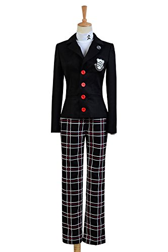 Persona 5 Protagonist Uniform Cosplay Kostüm Herren Schwarz L (Uniform Cosplay)