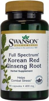 Swanson Full Spectrum Korean Red Ginseng Root (400mg, 90 Capsules) by Swanson Health Products