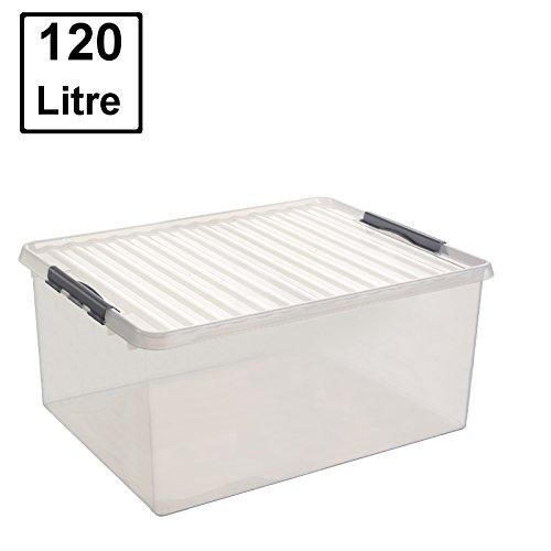 SUNWARE Q-Line Box - 120 Liter - 800 x 500 x 380mm - transparent
