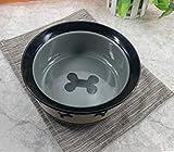 Lppanian Large Pet Bowl Ceramic Dog Bowl Cat Bowl Food Basin Cat Basin Dog Basin Dog Grain Bowl Golden Hair Rice Basin Pet Daily Necessities Grey Little Bone Xl-Super Large