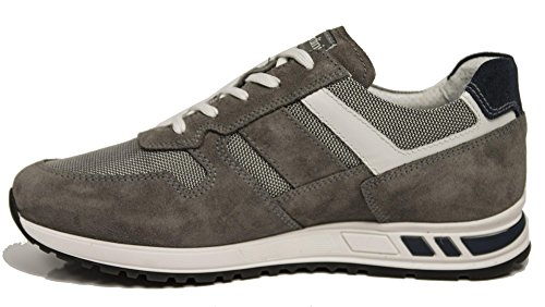 Nero Giardini Sneaker P800232-106 0232 Gris Smoke Grey Hommes Chaussures De Sport