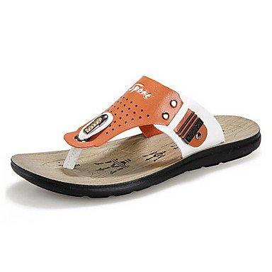 Herren Schuhe Casual Hausschuhe Blau/Orange Orange