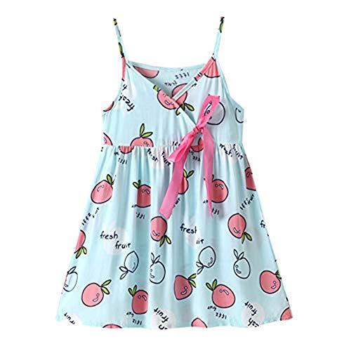 Kleinkind Baby Mädchen Kleidung Babykleidung Oberbekleidung Heligen Kinder Sleeveless Bowknot Dance Party Früchte Princess Dress Langarm Kleidung Blumendruck Prinzessin Kleider