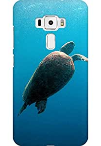 AMEZ designer printed 3d premium high quality back case cover for Asus Zenfone 3 (ZS520KL) (Turtle Undersea)