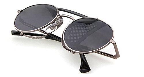 (Sonnenbrille mit doppelter Brücke und einklappbarer Netzseite, oval, 52 mm, mehrfarbig)