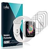 L K 6 Stücke Schutzfolie für Apple Watch 38 mm Series 1/2/3, HD klar Flexible TPU Folie [Blasenfreie][Kompatibel mit Hülle][Premium-Qualität] [Lebenslange Ersatzgarantie] Bildschirmschutzfolie