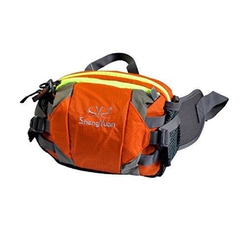 ZC&J Outdoor-Klettertaschen, Umhängetaschen, Männer und Frauen universell, multifunktionale tragbare Taschen, Reiten, Camping, Freizeit-Rucksack Orange